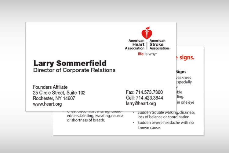 Business Cards American Heart Association